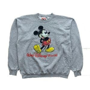 💨 Vintage Made In the USA Mickey Crewneck(Fits M)